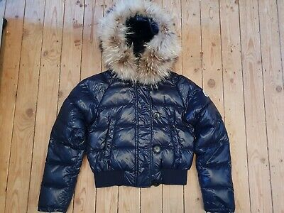 AU759.18 • Buy Rare Moncler Albertina (Like Alpin) Shiny Blue Down Puffer Jacket Coat Size 0