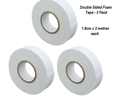 £2.85 • Buy 🔥3x Heavy Duty Strong Double Sided Sticky Tape Foam Adhesive Padded Mounting UK