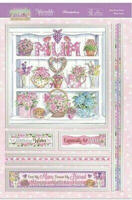 £4.59 • Buy Decoupage Card Making Kits Springtime Wishes Female Best Mum Ever Mother's Day