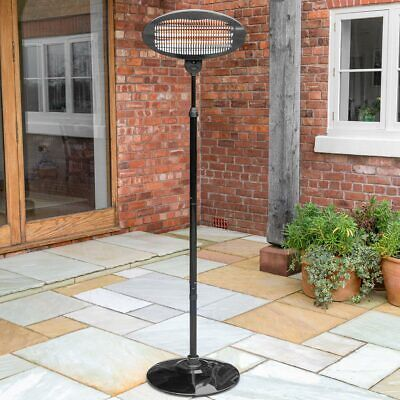 Harrier Free Standing Electric Heater | 2kW PATIO HEATER – Quartz 2000W Heater • 59.99£