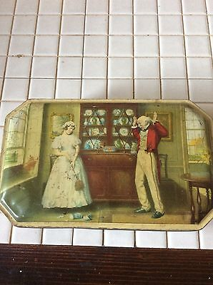 Jacob & Co Biscuit Tin With Man And Lady On • 7.50£