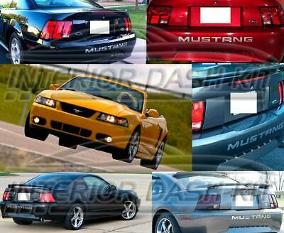 $39.99 • Buy REAR BUMPER RAISED CHROME LETTERS INSERTS SET For MUSTANG 2001 01 2002 2003 2004