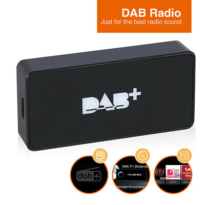 External DAB+ Box Adapter Digital Radio Antenna FM Tuner For Android Car Radio • 45.51£