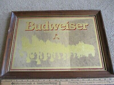 $ CDN35.59 • Buy Beer Mirror Budweiser King Of Beers Clydesdale's From 1989