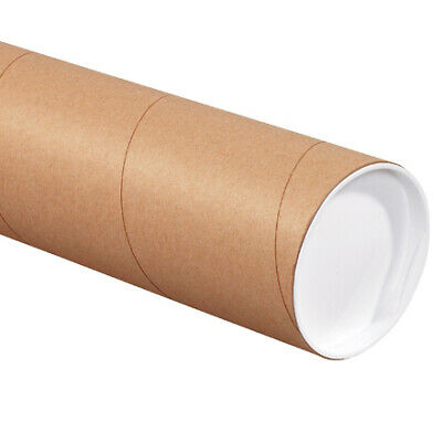 $53.50 • Buy Mailing Shipping Tubes With Caps 4 Inch X 18 Inch, Brown, Kraft, Pack Of 15