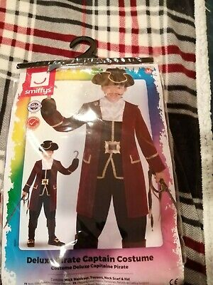 Smiffys-Brand New Children's Deluxe Pirate Captain Fancy Dress Sz MEDIUM (7/9yrs • 7.50£