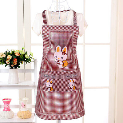 Cooking Apron For Adults Lady Women Kitchen Supplies Household Cleaning Aprons • 1.75£
