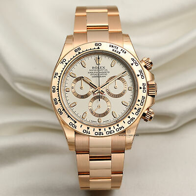 $ CDN63390.41 • Buy Unworn 2018 Rolex Daytona 116505 18k Rose Gold Cream Dial