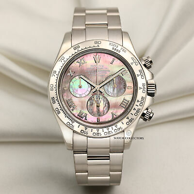 $ CDN43140.70 • Buy Rolex Daytona 116509 18k White Gold Black Mother Of Pearl Dial