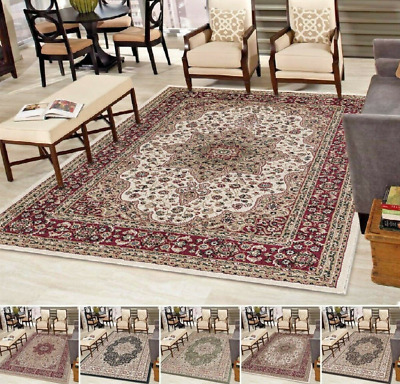 Traditional Rugs Large Living Room Carpet Rug Runner Soft Carpets Mats Non Slip • 88.91£