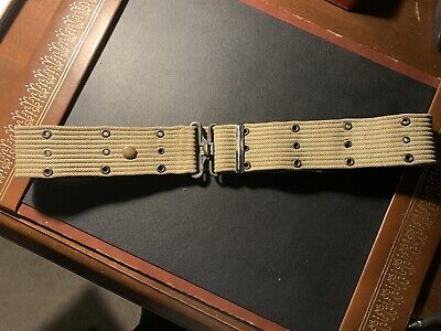 $5.99 • Buy WW2 U.S. Government Issue M-1936 Pistol Belt.  Olive Drab. Named. USMC? VGC.