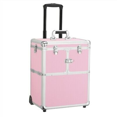 $61.19 • Buy Professional Rolling Makeup Case Train Case Aluminum Makeup Trolley Used