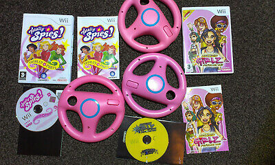 Wii GIRLS RACING GAME 'ACTION GIRLZ RACING +WHEELS & TOTALLY SPIES' PARTY GAME • 21.95£