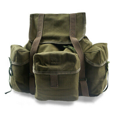 $49.99 • Buy US ARMY STYLE POUCH HAVERSACK BACKPACK BAG US M14 Waterproof Canvas BAG ARMY GRE