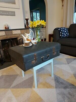 Vintage/ Shabby Chic Upcycled Suitcase Table With Storage • 75£