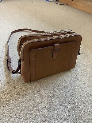 Accessorize Tan Faux Leather Suede Shoulder Bag - HARDLY USED! • 11£