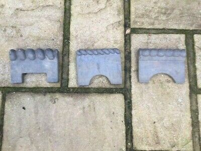 Reclaimed Victorian Blue Rope Top Clay Garden Edging Tiles - 52 Pieces (3 Types) • 50£