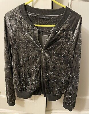 M&S Limited Collection Grey Zipped Jacket Size 10 • 1.49£