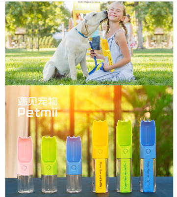 Portable Dog Pet Multifunction Water Bottle Cup Travel Dispenser Drinking Feeder • 8.99£