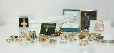 $ CDN6.99 • Buy Lots Of Rings Estate Jewelry Collection Lot Thrift Store Surplus Gold Plated