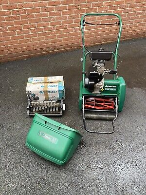 Qualcast / Suffolk Punch 35S/14S  Cylinder Lawnmower    Scarifier Included. • 199.99£
