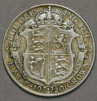 Half Crown 1920  King George V .500 Silver British Collectable Coin  • 10£