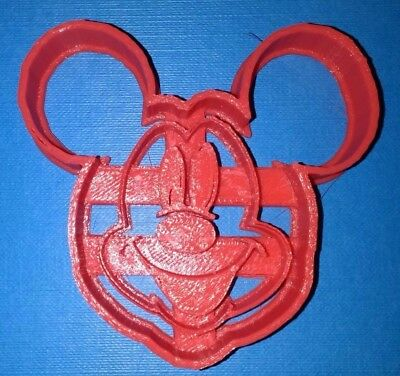 £2.49 • Buy Mickey Mouse Face Cookie Cutter (0029) - 3D Printed - High Quality Red