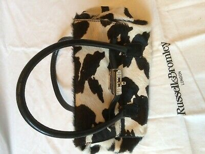 Russell And Bromley Handbag In Pony Skin With Jewel Buckle. Good Condition. • 16£