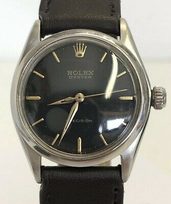£1875 • Buy Rolex Vintage (1961) Ladies Oyster Precision Mechanical Watch - Black Dial