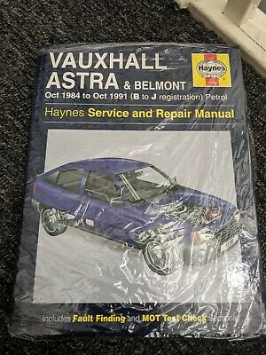 Vauxhall Astra Belmont Haynes Service And Repair Manual • 4.20£