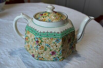 Gibsons Vintage (1923) Floral Teapot R.n.697079 Excellent Condition • 19.99£