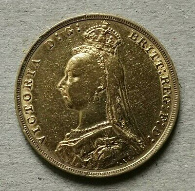 1889 Queen Victoria 22ct Gold Full Sovereign  • 350£