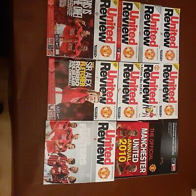 Manchester United Programmes 2009/10 • 6£