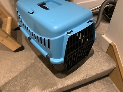 Blue Portable Pet Carrier Cat Puppy Travel Cage Dog Carry Basket Transporter Box • 1.20£