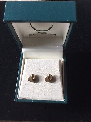 Elegant 9ct Gold OLA GORIE Scottish Orkney Echo Earrings - 9 Carat 9k 375 • 110£