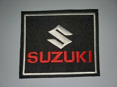$3.99 • Buy Suzuki Black Silver & Red Embroidered Iron On Patches 3  X 3.5
