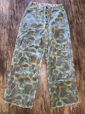 $135 • Buy Wwii Usmc Reversible Camo Pants Ww2