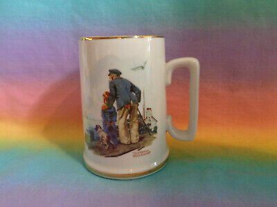 $ CDN7.60 • Buy Vintage 1985 Norman Rockwell  Looking Out To Sea  Mug
