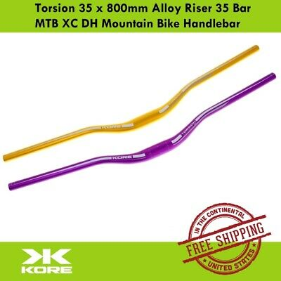 $29.90 • Buy Kore Torsion 35 X 800mm Alloy Riser 35 Bar MTB XC DH Mountain Bike Handlebar