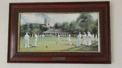 £25 • Buy Bowls Picture - Bowls Framed Print SUNDAY BOWLS. By Terry Harrison, On Board