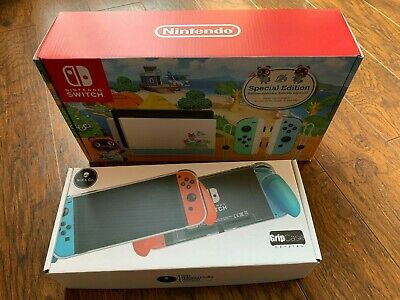 $ CDN530 • Buy Nintendo Switch Animal Crossing: New Horizons Edition With GripCase Crystal!