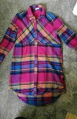 NEXT GIRLS  CHECKED SHIRT DRESS 8y  AGE 11 YEARS • 1£