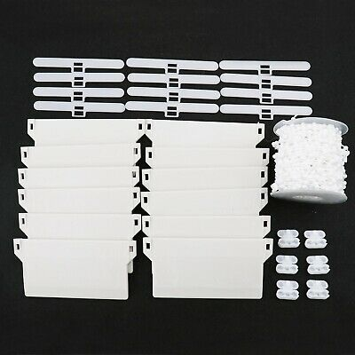 31Pcs 89mm Vertical Blind Accessories Repair Kit Top Hangers 10M Chain Connector • 16.87£