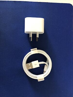 AU20 • Buy New Genuine Apple IPhone Wall Charger + Lightning Cable.