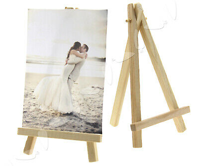 10PCS Wooden Table Number Easel Wedding Name Card Holder Stand • 10.47£