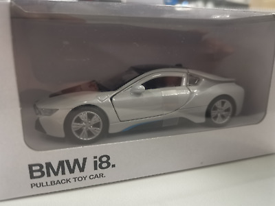 Genuine BMW I8 Pullback Action Toy Car In White 1:41 Scale 80422413805 • 5.99£