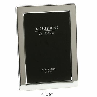 £9.97 • Buy Silver Plated Flat Edge Picture Photo Frame In Size - 6x4 5x7 6x8 - By Juliana