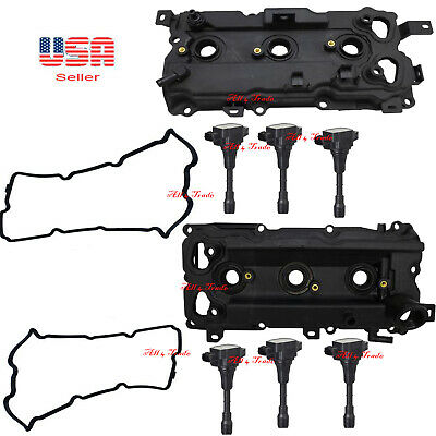 $ CDN2629.52 • Buy 2 Valve Cover With Gasket And 6 Ignition Coil Fit Infinity Nissan Code VQ35HR