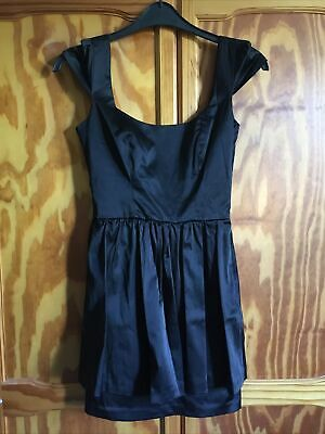 Topshop Size 8 Silk Style Peplum Bow At Back Dress • 3£