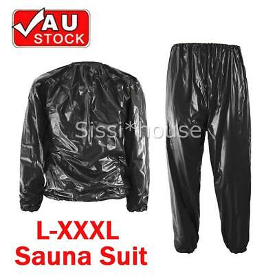 AU16.95 • Buy Heavy Duty Sweat Suit Sauna Suit Exercise Gym Suit Fitness Weight Loss Anti-RIP